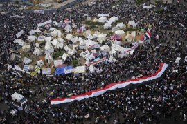 Thousands joined Tuesday's demonstration in Cairo's famed Tahrir Square [AFP]