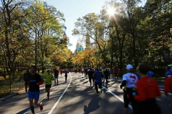 The New York marathon went ahead for thousands despite cancellation after Superstorm Sandy [GETTY]
