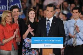 Obama is ahead of Romney in the Electoral College, according to most polls [EPA]