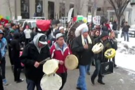 Indigenous groups protest across Canada