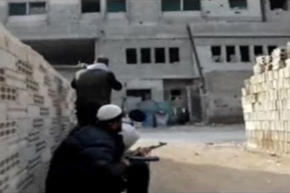 Many civilians have been displaced by the conflict in the Yarmouk district