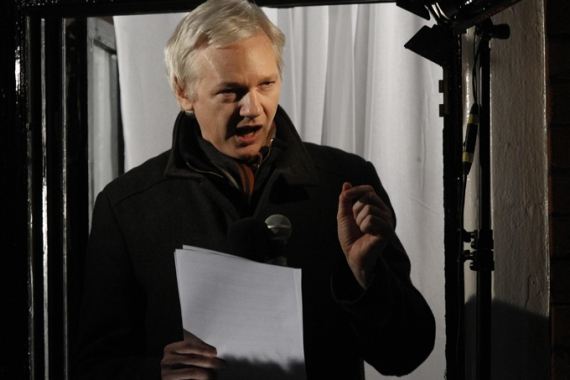 "Assange has praised jailed US soldier Bradley Manning, saying the young man has ""maintained his dignity"" [Reuters]"