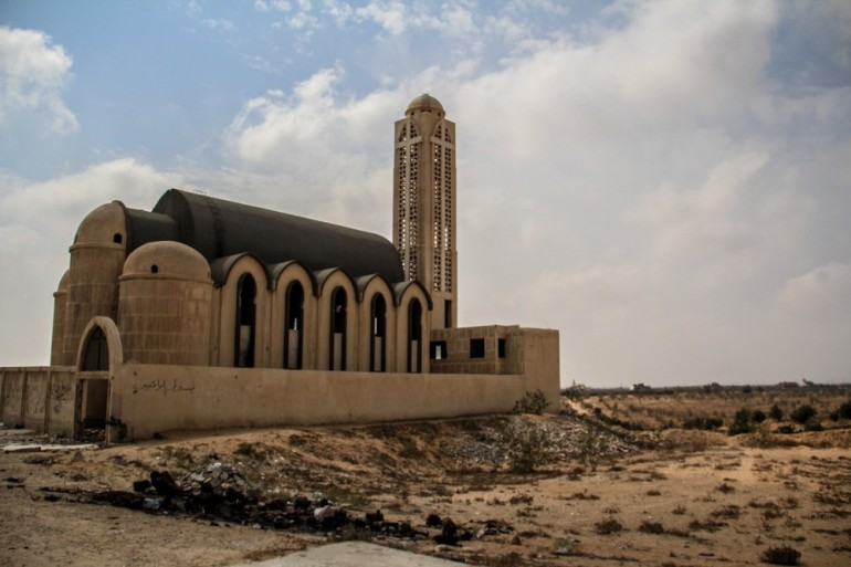 The church in Rafah was targeted by gunmen during the uprising, and has since been abandoned without repairs ever having been made.