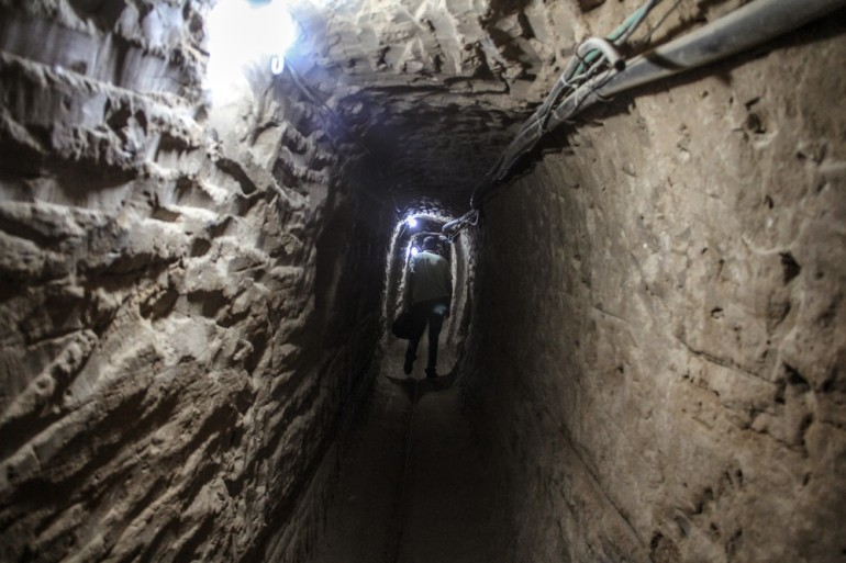 In the border town of Rafah, goods and people smuggling to Gaza has thrived for years using the subterranean tunnels burrowed beneath the border. Just a few hundred metres away from the besieged strip, Rafah lives almost exclusively on the tunnels(***) economic activity, a more-or-less open secret.