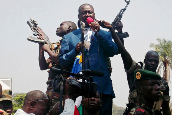 Rebels took Sibut as regional African countries agree to send more forces to support President Bozize [Reuters]