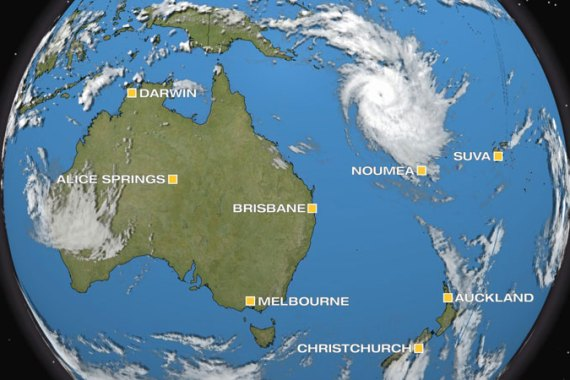 After battering the Solomon Islands, Tropical Cyclone Freda edges south towards New Caledonia. [Al Jazeera]