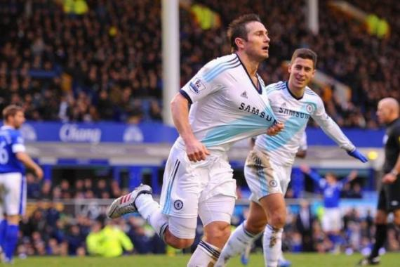 Lampard scored his 191st and 192nd goal for the side on Sunday in Chelsea's 2-1 win over Everton [Getty Images]