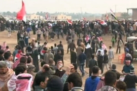 The protesters have complained about marginalisation and are demanding the release of Sunni prisoners [Al Jazeera]