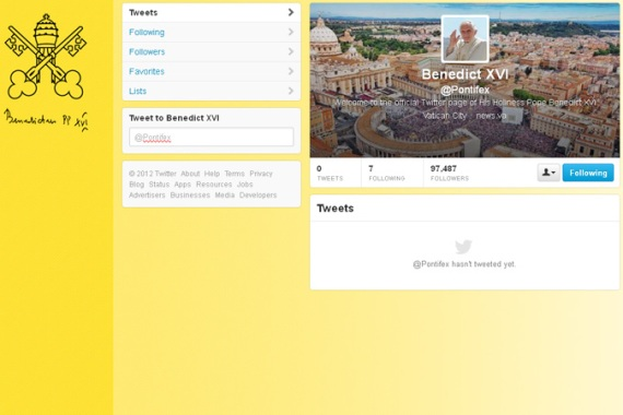 The @Pontifex account has not yet been officially verified by the micro-blogging service [Al Jazeera]