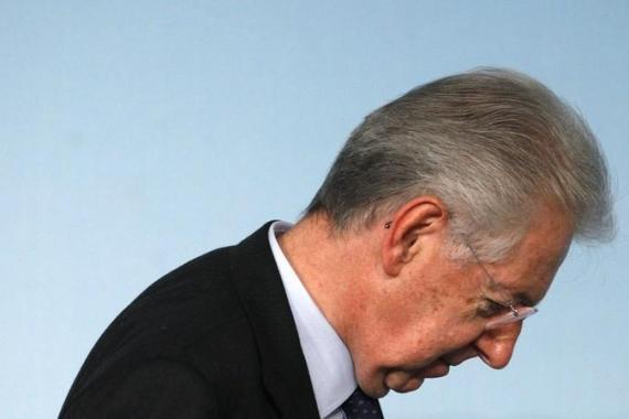 Prime Minister Monti left his political future open, saying he is concentrating on his remaining time in office  [Reuters]