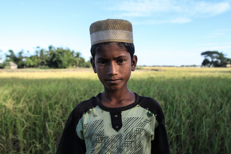 Ahmed Huessin says he previously went to school before being displaced. Now, he  has no access to education. He desperately wants to continue his schooling as he feels it is the key to his future.