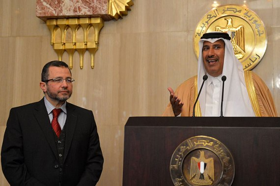 Qatar said it will increase its financial aid to Egypt by $2.5bn to a total of $5bn [AFP]