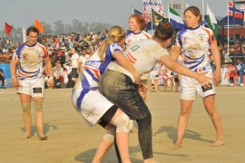 England's women team were surprised by large crowds at Kabbadi World Cup [International Kabaddi Federation]