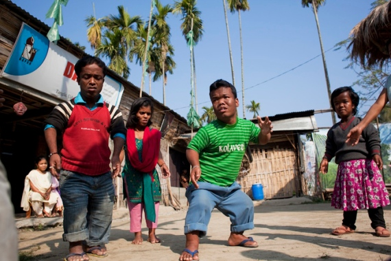 Pabitra Rabha launched the all-dwarf troupe in 2011 in northeast Assam state [Bijoyeta Das/Al Jazeera]