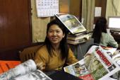 "Author Ma Thida served nearly six years of a 20-year sentence on charges of ""distributing unlawful literature"" [AP]"