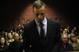 Oscar Pistorius reportedly wept in the courtroom when he was charged with murder [Reuters]