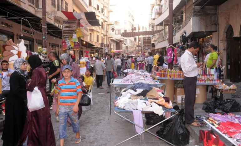 Aleppo(***)s ancient market, recognised by UNESCO as a world heritage site...