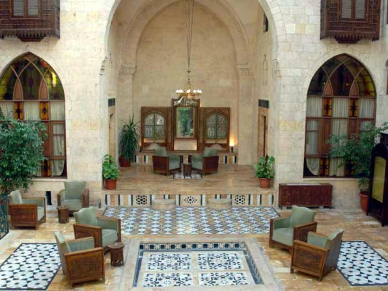 Dar Zamaria was a four-star boutique hotel in Aleppo that had been restored from an Ottoman home traced back to the 17th century.