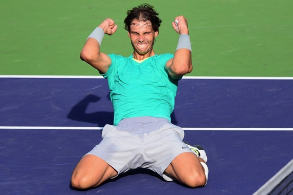 The 11-time grand slam champion claimed his first hard court title since 2010 with the victory in California [AFP]