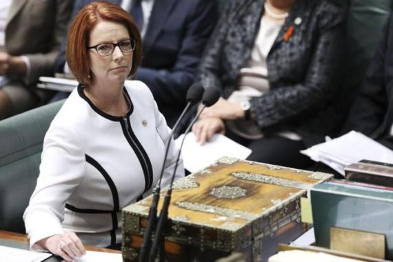 Australian Prime Minister Julia Gillard gave an impassioned response to the leader of the opposition for his repeated use of sexist language late last year [Getty Images]