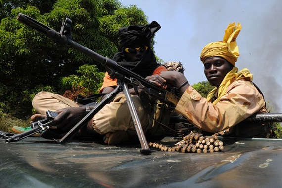 Séléka rebels in the Central African Republic patrol near the city of Damar in January [AFP]