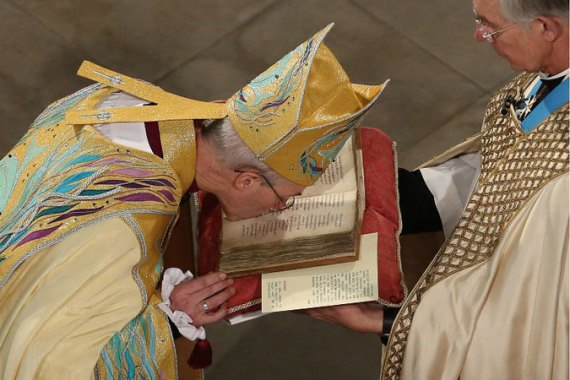 Ceremony at 900-year-old Canterbury Cathedral was attended by Prime Minister David Cameron [AFP]