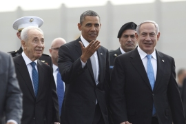 """Obama's primary mission in Israel was making peace not between Israelis and Palestinians but with the Israel lobby and Congress, to boost his chances of passing a domestic agenda before congressional elections in 2014."" writes authors [Reuters]"
