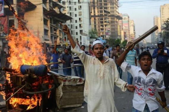Proceedings against accused war criminals in Bangladesh have caused civil unrest and violence [AFP/Getty Images]