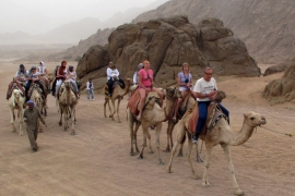 Egypt's Sinai peninsula is a popular vacation spot for Israelis, especially during the Passover break [File: Khaled Elfiqi/EPA]