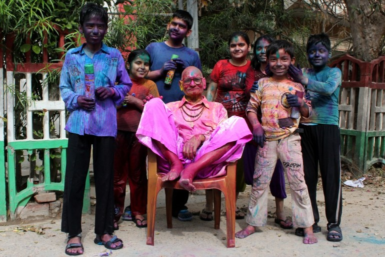 Holi is celebrated by all age groups.