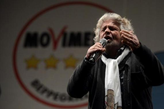 "By voting to comedian-turned-political agitator Beppe Grillo, Italians voted an overwhelming ""no"" against austerity, against more taxes, against budget cuts in theory designed to save the euro [AFP]"