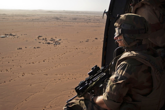 French and Chadian troops continue to patrol northern Mali to look for militants [Reuters]