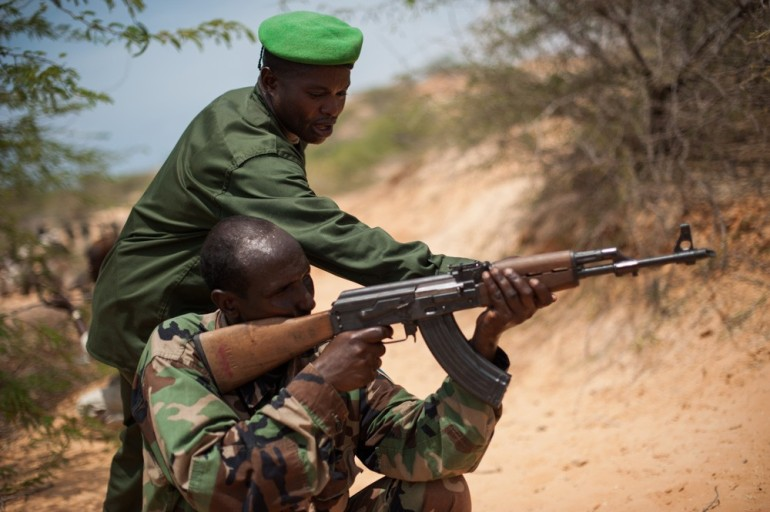 A UN resolution has eased the embargo, which would allow the Somali government to acquire light weapons such as automatic assault rifles and rocket-propelled grenades.