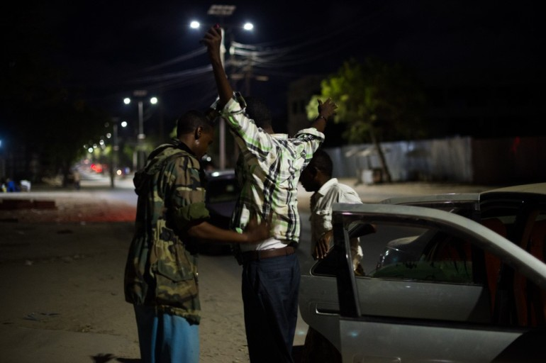Vehicles circulating at night are searched at the checkpoints, along with their passengers. Pedestrians are asked to lift their shirts to ensure that they are not concealing suicide-bomb vests.