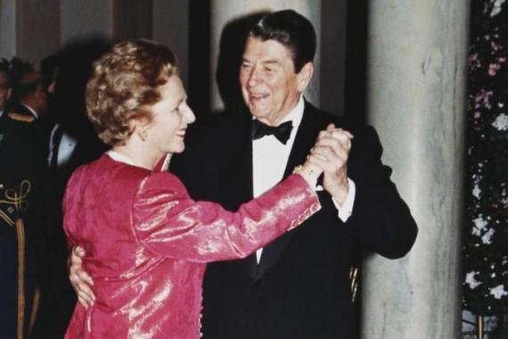 Thatcher was always willing to support Reagan's hawkish interventions in Latin America - from his relentless encouragement of civil wars in Nicaragua, El Salvador and Honduras, to his backing of military regimes [Reuters]
