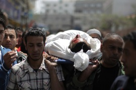 Haitham al-Meshal was killed by the Israeli air strike as he was driving a motorcycle northwest of Gaza City  [AFP]
