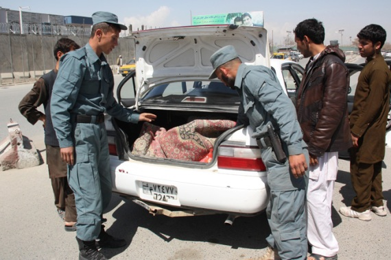 Officials have tightened security outside courthouses following Taliban threats against judges and prosecutors [EPA]