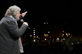 Populist Beppe Grillo and his anti-establishment Five Star Movement has gained much popularity in Italy, as he is willing to talk about a referendum on leaving the euro [AFP]