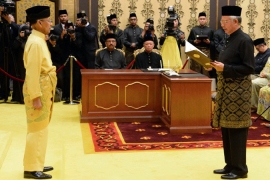 Malaysia PM sworn in amid opposition protests