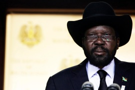 The government of President Kiir denies supporting fighters in the north, the reason given for the dispute [Reuters]