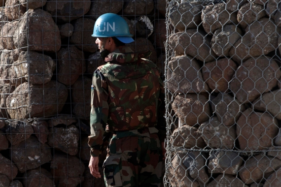 There are about 1,000 UN soldiers in the Golan Heights [AP]