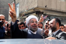 Rouhani won Iran's presidential election with more than 50 per cent of the vote on June 14 [AFP]
