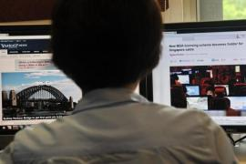 More than 1,000 people rallied against the government's new internet rules on Saturday [Reuters]