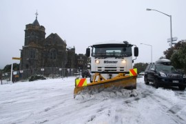 Heavy snow and strong winds have battered New Zealand.