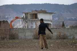 The building where Osama bin Laden was killed was demolished in Abbottabad, February 26, 2012 [Reuters]