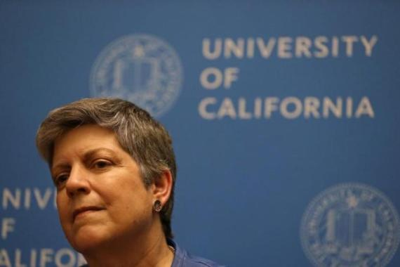 Even though Secretary Napolitano's record as a public servant is well respected, however such experiences have not necessarily prepared her to steer the UC system to safer waters [AP]