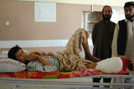 16-year-old Khalil lost his leg after tripping a Taliban improvised explosive device [Bethany Matta/Al Jazeera]