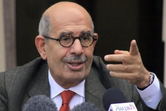 "The June 30 Front, an amalgam of several opposition groups, believe Elbaradei is ""the voice of their demands"" [AP]"