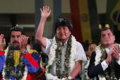 """The United States is using its agent [Snowden] and the president [of Bolivia] to intimidate the whole region,"" Bolivia's President Evo Morales said in reference to his plane being grounded in Europe [AP]"