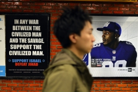 A Pamela Geller-led group has commissioned controversial subway ads in New York and San Francisco [AFP]